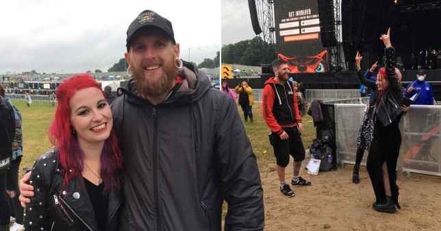 lauren and jamie mecaloon getting married at download festival