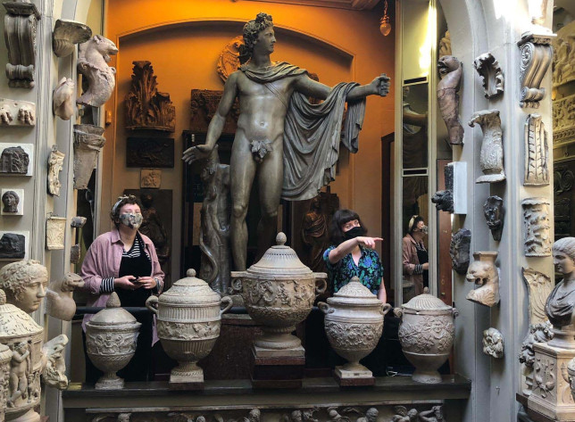 Katie Weston and her colleague at the Sir John Soane's Museum