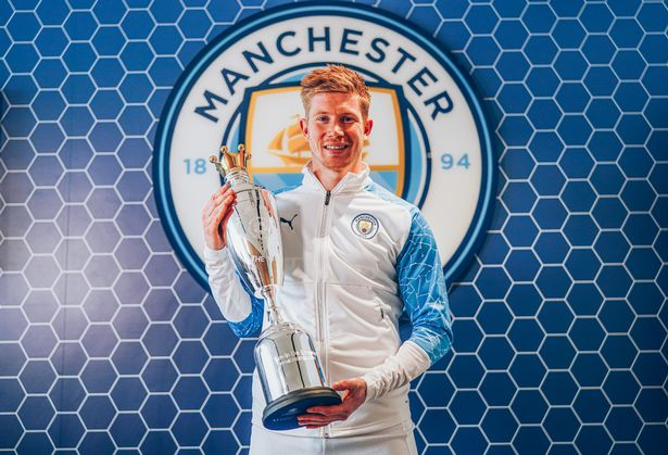 De Bruyne has won the award for a second year in a row