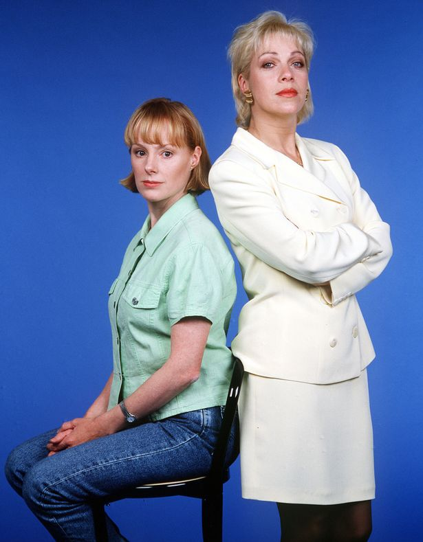 Sally Dyvenor and Denise Welch were at war over Kevin Webster in the soap