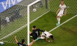Kai Havertz scored Germany's first against Hungary.