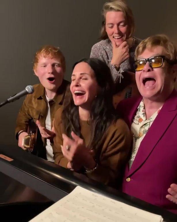 Ed Sheeran, Courteney Cox, Brandi Carlile and Elton John serenade Lisa Kudrow