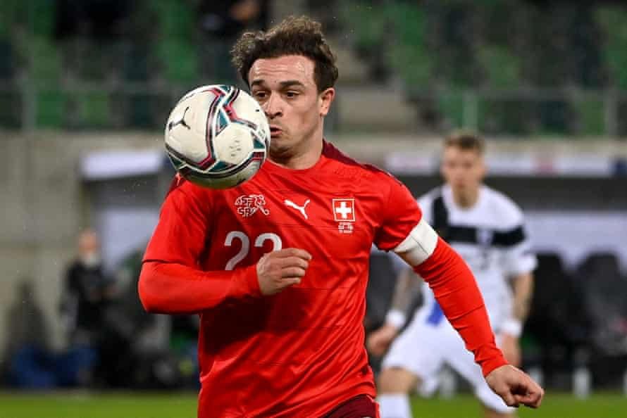 Xherdan Shaqiri is still Switzerland's biggest star and is expected to start in the No 10 role despite a lack of games last season for Liverpool.