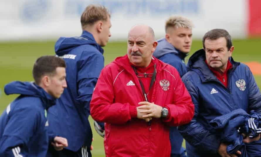 Russia's head coach, Stanislav Cherchesov, is an uncompromising character.