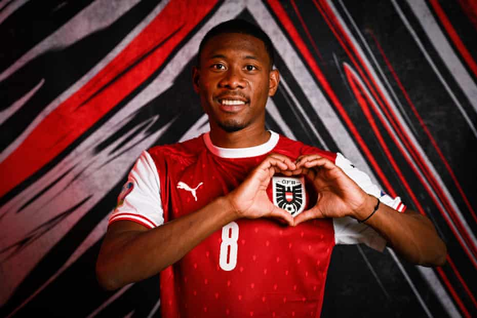 David Alaba of Austria poses during the official Euro 2020 media access day.