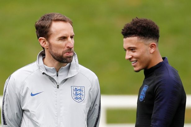 Southgate is yet to call on Sancho at Euro 2020 despite the winger's brilliant record