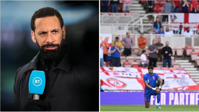 Rio Ferdinand has slammed England fans for booing players who take the knee