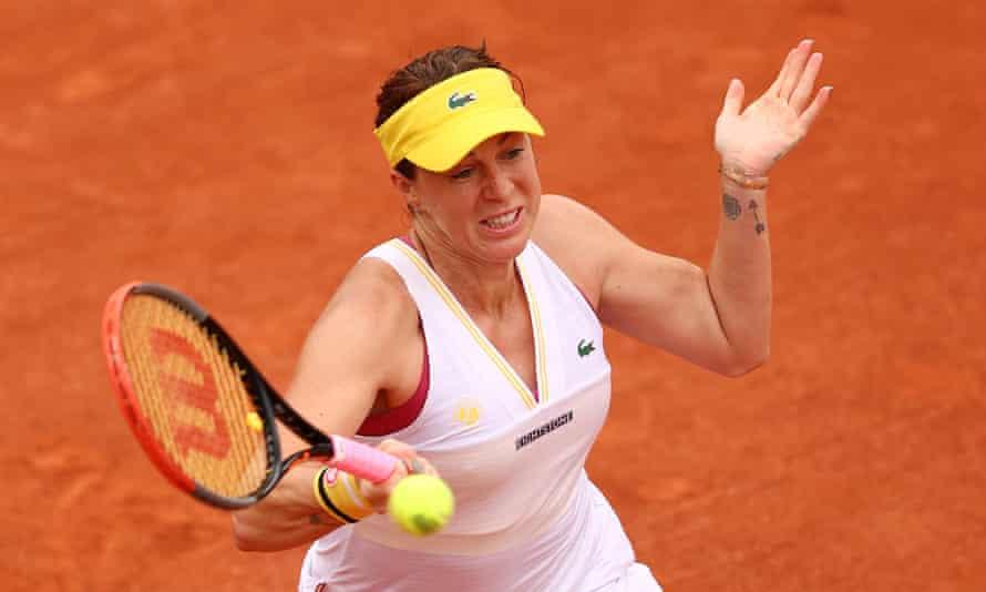 Anastasia Pavlyuchenkova remained calm during moments of pressure from Aryna Sabalenka to progress in three sets.