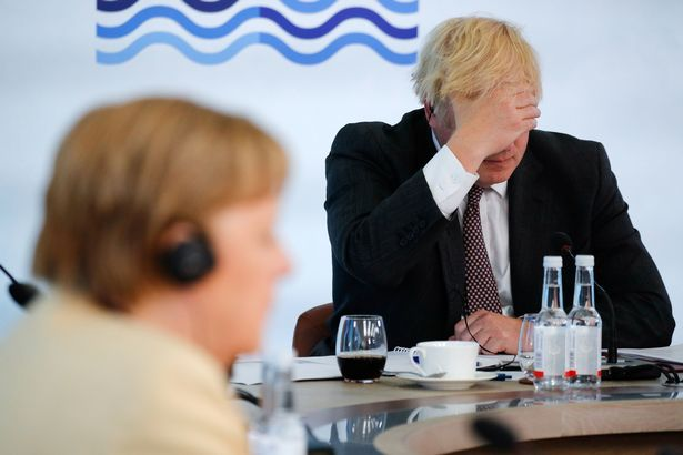 It is an embarrassing rebuke for Boris Johnson on the world stage