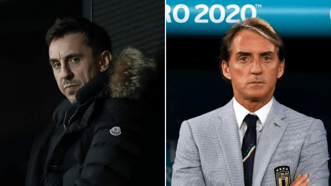 Former Manchester United defender Gary Neville identified the 'biggest problem' for Italy at Euro 2020