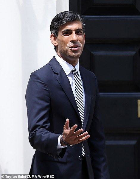 Asked at the Times CEO summit if he would stop wearing masks when they are not legally required, Rishi Sunak said: 'Yes, as soon as possible.'