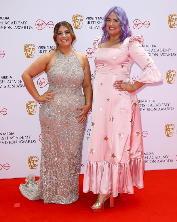 Izzi and Ellie Warner looked sensational as they left the sofa for a night of glamous