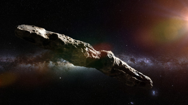 Oumuamua is an active comet, interstellar object  passing through the Solar System, unusual shaped asteroid