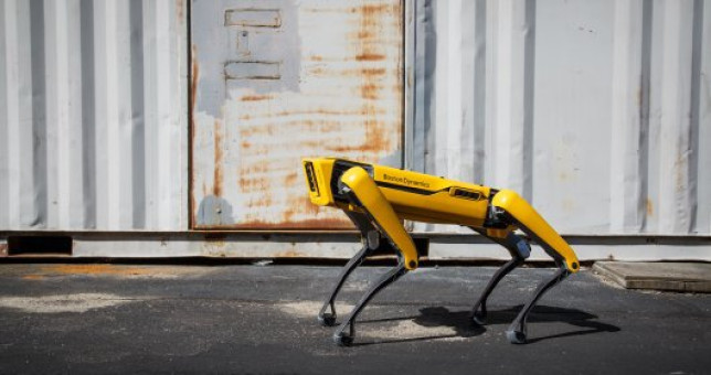 SPOT? A nimble robot that climbs stairs and traverses rough terrain with unprecedented ease, yet is small enough to use indoors. Built to be a rugged and customizable platform, Spot autonomously accomplishes your industrial sensing and remote operation needs.