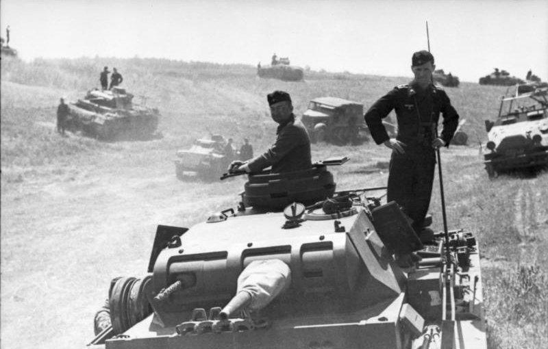Wehrmacht Panzer III tanks in Poland ahead of Operation Barbarossa.