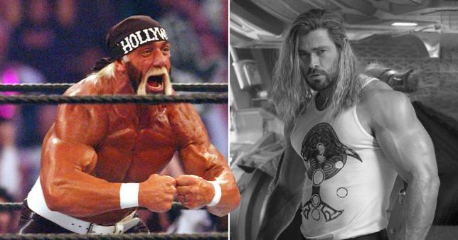 Wrestler Hulk Hogan and actor Chris Hemsworth