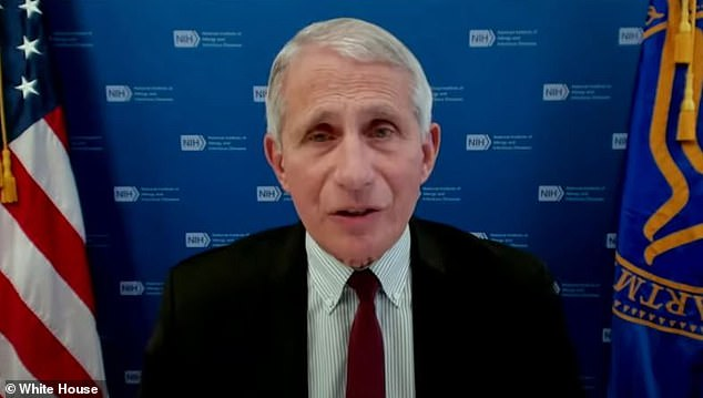Dr Anthony Fauci warned om Tuesday (above) that the greatest threat to the U.S. defeating the COVID-19 pandemic is the Indian 'Delta' variant