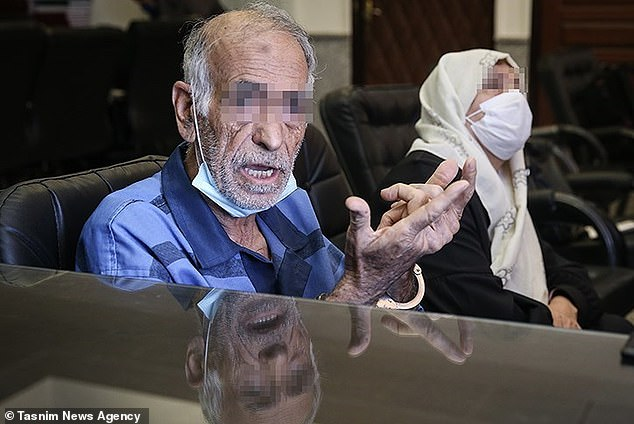 Akbar and Iran Khorramdin, 81 and 74, have confessed to killing their son, daughter, and son-in-law in a series of honour killings spanning 10 years (faces muzzed by Iranian media)