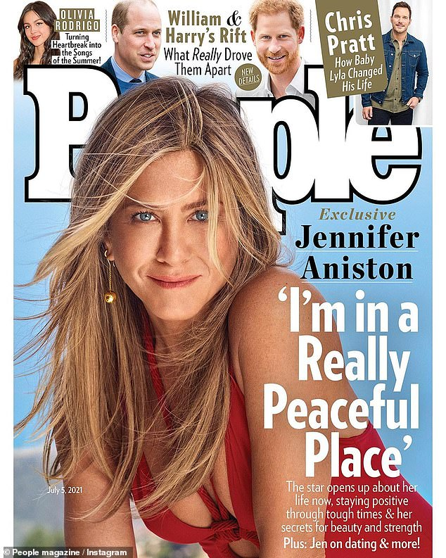 Smart cookie: Jennifer Aniston told People this week that the way she deals with constant rumours about her personal life is through therapy