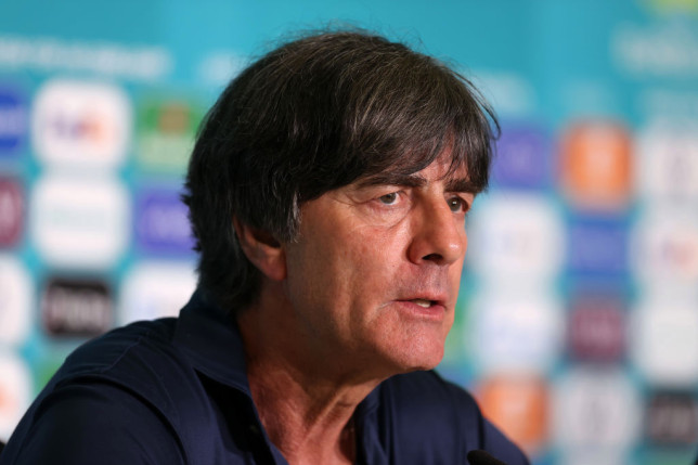 Joachim Low speaks to the media after Germany's Euro 2020 clash with Hungary