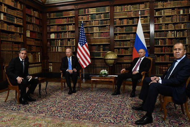 The two leaders met alongside top aides in Geneva
