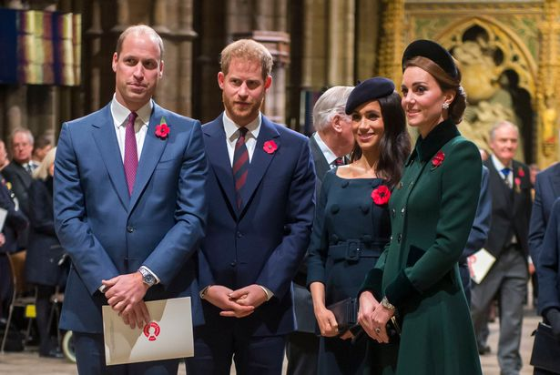 Kate, William, Harry and Meghan Markle