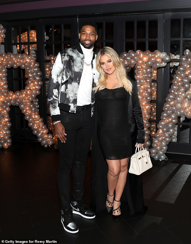 Split! Khloe Kardashian and Tristan Thompson 'break up again'... after he's spotted with three women at Bel Air house party (Pictured, 2018)