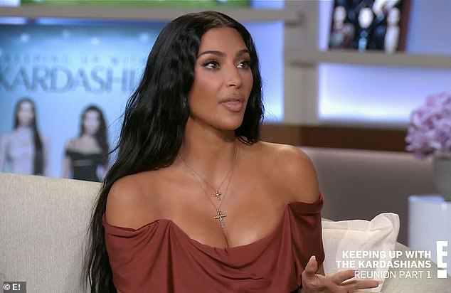 Rehashing: Kim Kardashian, 40, recalled the feud she had with former bestie Paris Hilton in day one of the two-part Keeping Up With The Kardashians reunion