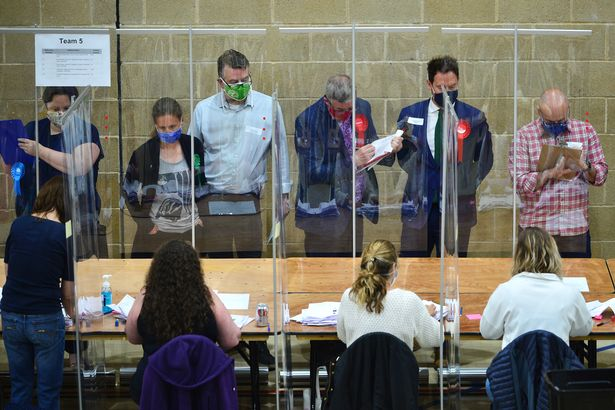 Officials at the count