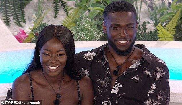 It's over: Mike Boateng and Priscilla Anyabu have split after 15 months of dating, MailOnline can reveal (pictured on Love Island in 2020)