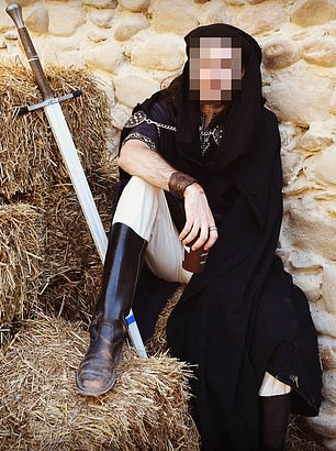 Named only as Damien T., the assailant is a medieval enthusiast whose social media reveals him wearing clothing of the era and participating in re-enactments