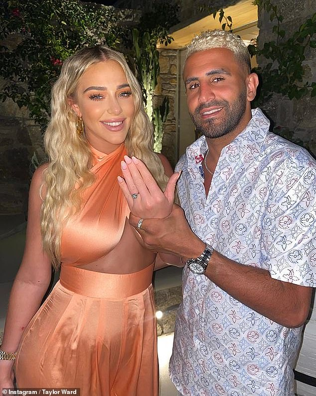Popped the question!Manchester City star Riyad Mahrez is engaged to his girlfriend of 16 months, Taylor Ward, after proposing during their trip to Mykonos on Monday