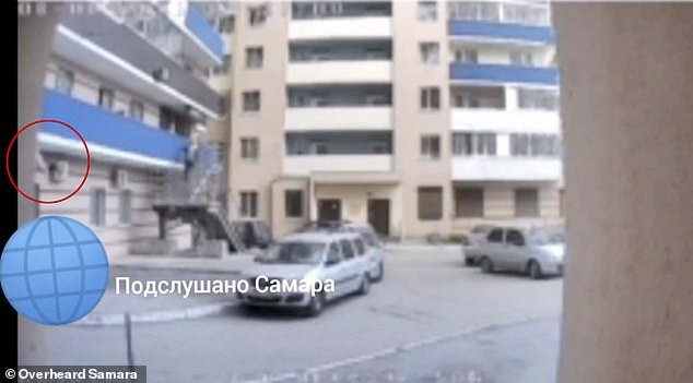 Footage shows three-year-oldAnastasia plunging from the balcony and landing on the ground outside their apartment building inSaratov, southwestern Russia