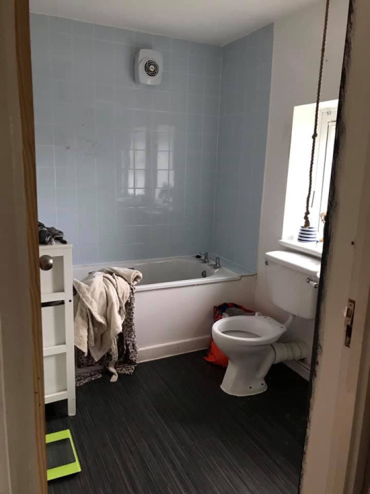 Emma's bathroom before its makeover