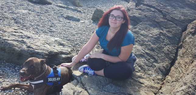 Emilee Morrallis and dog Fin