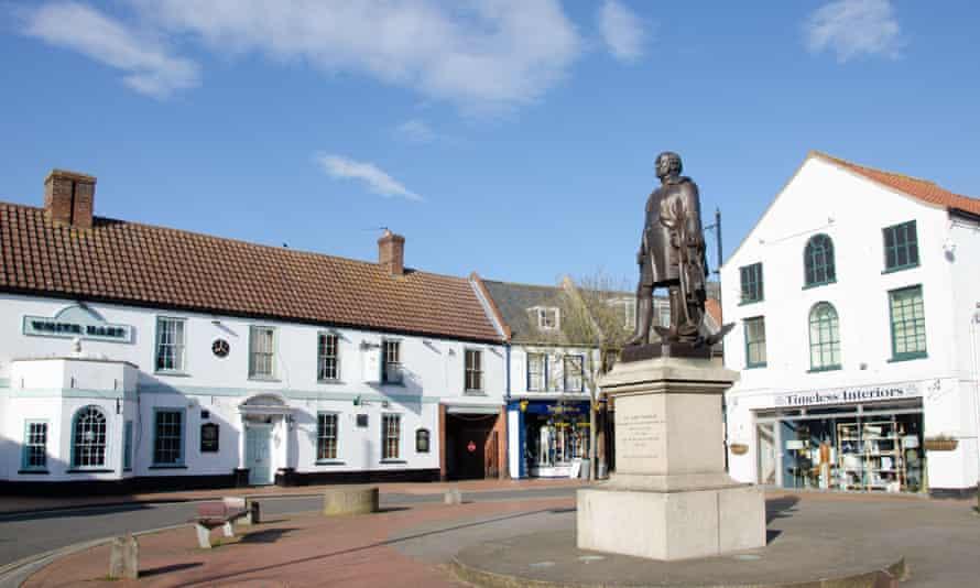 Statue of Sir John Franklin, Spilsby, Lincolnshire, England, UK