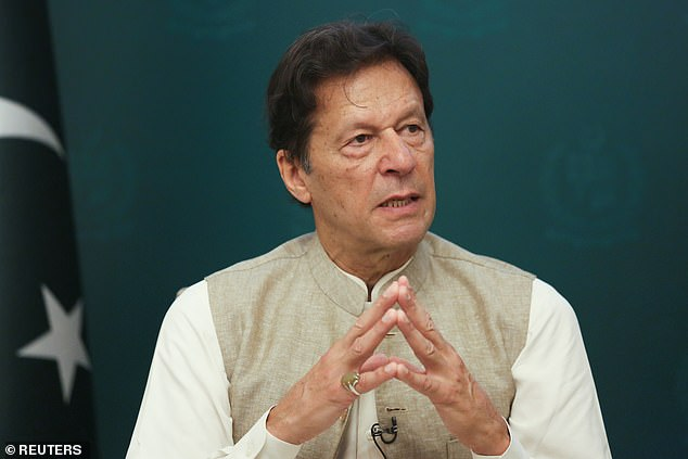 Prime Minister of Pakistan Imran Khan, pictured above, has sparked fury by blaming 'temptation' for sexual violence against women