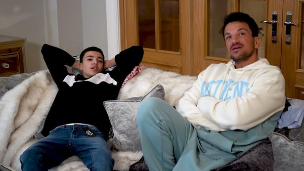 Peter Andre has shared his pride at how his son Junior, 16, is earning his own money