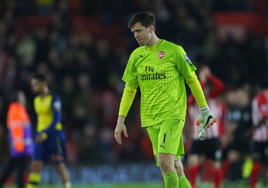 Wojciech Szczesny lost his place in the Arsenal team after he was caught smoking in the showers after a defeat against Southampton back in January 2015