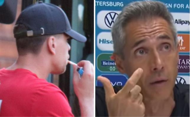 Wojciech Szczesny was seen smoking ahead of Poland's Euro 2020 match against Spain