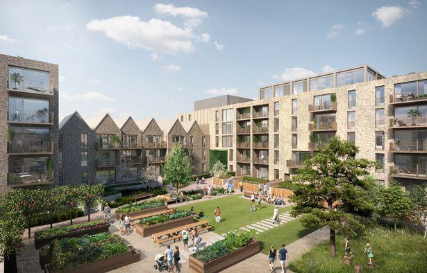 A computer-generated image showing the communal space at Artisan's new Rowanbank Gardens development in Edinburgh