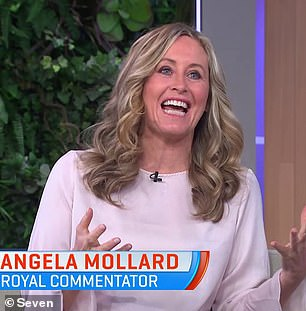 'It's not a great look': Royal commentator Angela Mollard (pictured) told The Morning Show on Wednesday that Prince Harry and Meghan Markle called their daughter Lilibet to 'secure the Sussex brand' and ensure it remained connected to the palace, regardless of the status of their royal titles