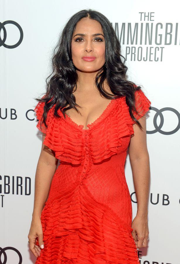 Salma Hayek boobs growing