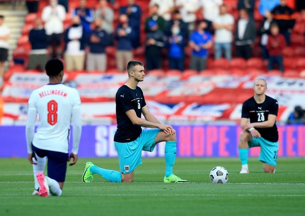 England players continued to take the knee against Austria