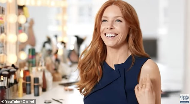 Advert:The Strictly Come Dancing winner, 34, appeared in a campaign for hair brand Clairol in 2020 and was seen flicking her hair (pictured) while next to makeup and dancing in a leotard