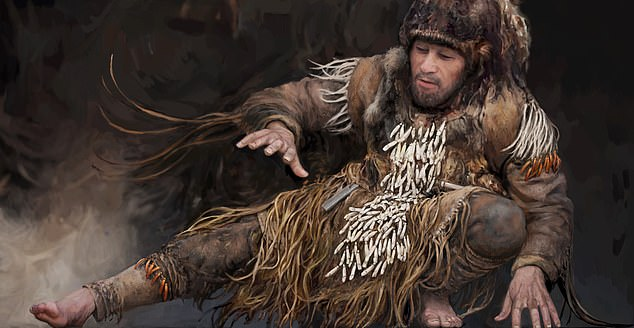 Stone age ravers would dance in a strange 'psychedelic way' with elk teeth tied around their bodies, ratting percussively as they moved, a study has revealed