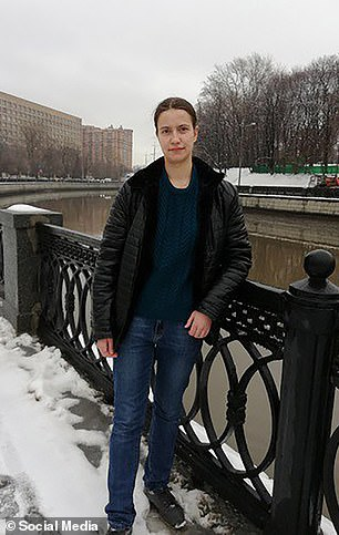 Alexandra Osipova (pictured), 22, stabbed her colleague Alla Filatova, 20, to death after an argument over who was better at their job, Russian law enforcement said