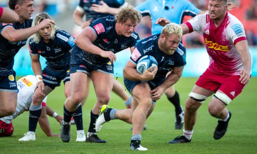 Akker van der Merwe's power and mobility has been crucial in Sale's form this season