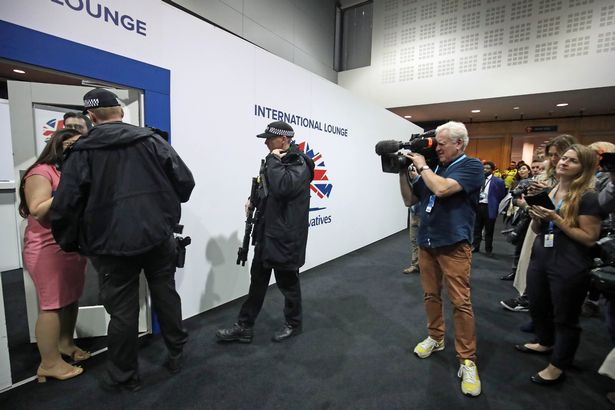The fracas took place at Conservative Party Conference in 2019