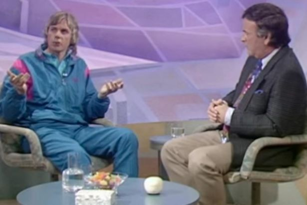 Conspiracy theorist David Icke is interviewed by Terry Wogan (file photo)